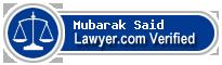 Mubarak Ahmed-Baghouth Said  Lawyer Badge
