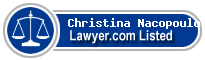 Christina Nacopoulos Lawyer Badge