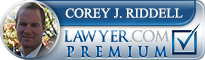 Corey J. Riddell  Lawyer Badge