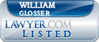 William Glosser Lawyer Badge