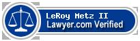 LeRoy Metz II  Lawyer Badge