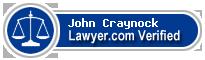 John W. Craynock  Lawyer Badge