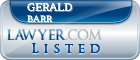 Gerald Barr Lawyer Badge