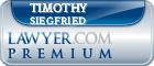 Timothy J. Siegfried  Lawyer Badge