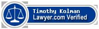 Timothy M. Kolman  Lawyer Badge