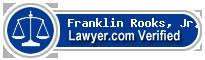 Franklin J. Rooks, Jr.  Lawyer Badge