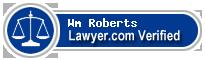 Wm C. Roberts  Lawyer Badge