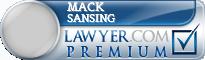 Mack Sansing  Lawyer Badge
