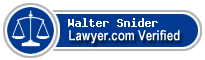 Walter D. Snider  Lawyer Badge
