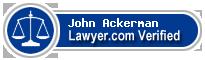 John E. Ackerman  Lawyer Badge