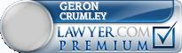 Geron Bryant Crumley  Lawyer Badge
