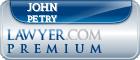 John W. Petry  Lawyer Badge