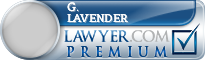 G. William Lavender  Lawyer Badge