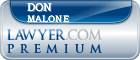 Don Ross Malone  Lawyer Badge