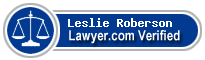 Leslie Bruce Roberson  Lawyer Badge