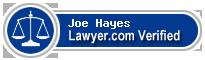 Joe W. Hayes  Lawyer Badge