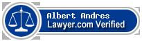 Albert E. Andres  Lawyer Badge