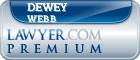 Dewey Paul Webb  Lawyer Badge