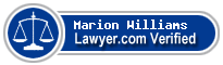 Marion Eugene Williams  Lawyer Badge