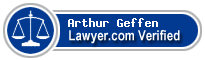 Arthur Harold Geffen  Lawyer Badge