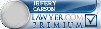 Jefery F. Carson  Lawyer Badge