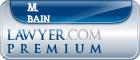 M. Dewey Bain  Lawyer Badge