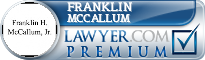 Franklin H. Mccallum  Lawyer Badge