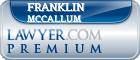 Franklin H. Mccallum  Lawyer Badge