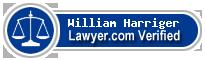 William H. Harriger  Lawyer Badge