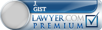J. Fred Gist  Lawyer Badge