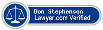 Don C. Stephenson  Lawyer Badge