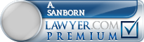 A. Beckwith Sanborn  Lawyer Badge