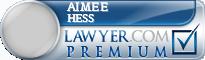 Aimee Hess  Lawyer Badge