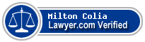 Milton Carey Colia  Lawyer Badge
