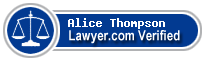Alice P. Thompson  Lawyer Badge