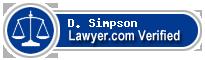 D. Timothy Simpson  Lawyer Badge