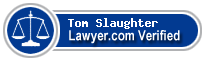 Tom Slaughter  Lawyer Badge