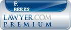F. John Reeks  Lawyer Badge