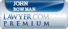 John P. Bowman  Lawyer Badge