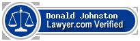 Donald Lee Johnston  Lawyer Badge
