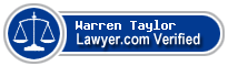 Warren Taylor  Lawyer Badge