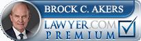 Brock C. Akers  Lawyer Badge
