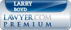 Larry Palmer Boyd  Lawyer Badge