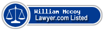 William Mccoy Lawyer Badge