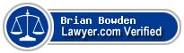 Brian D. Bowden  Lawyer Badge