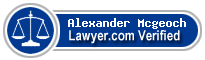 Alexander G. Mcgeoch  Lawyer Badge