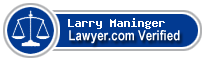 Larry G. Maninger  Lawyer Badge