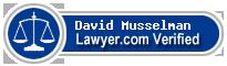 David Talmage Musselman  Lawyer Badge