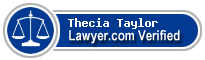 Thecia Anne Taylor  Lawyer Badge