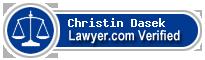 Christin C. Dasek  Lawyer Badge